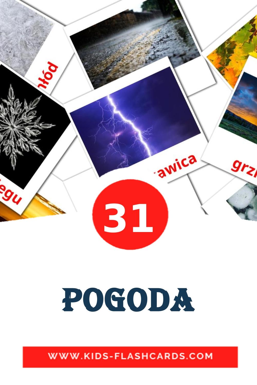 31 Pogoda Picture Cards for Kindergarden in polish