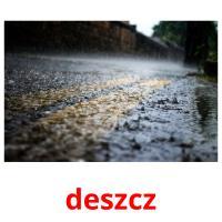 deszcz picture flashcards