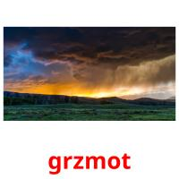 grzmot picture flashcards