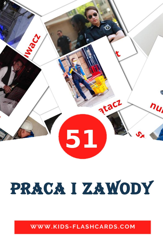 51 Praca i zawody Picture Cards for Kindergarden in polish