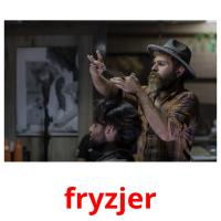 fryzjer picture flashcards