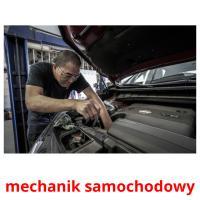 mechanik samochodowy picture flashcards