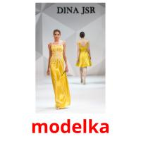 modelka picture flashcards