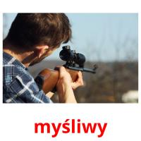 myśliwy picture flashcards