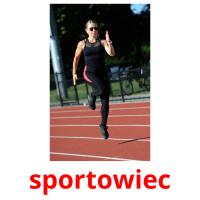 sportowiec picture flashcards