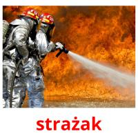 strażak picture flashcards
