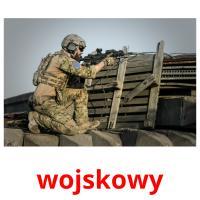 wojskowy picture flashcards