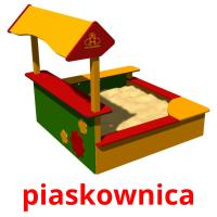 piaskownica picture flashcards