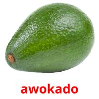 awokado picture flashcards