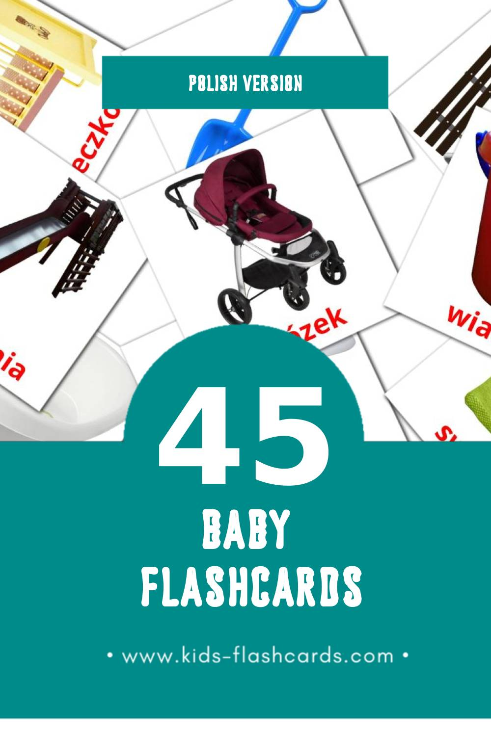 Visual Dziecko Flashcards for Toddlers (45 cards in Polish)
