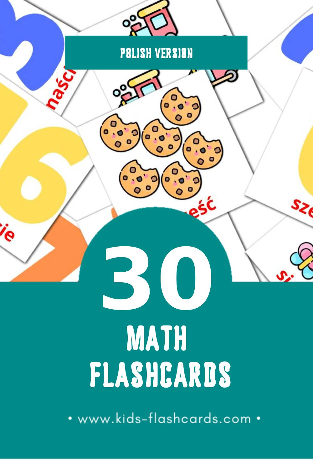 Visual Matematyka Flashcards for Toddlers (20 cards in Polish)