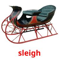 sleigh picture flashcards