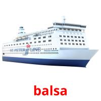 balsa picture flashcards