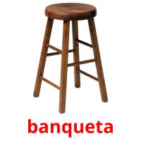 banqueta picture flashcards