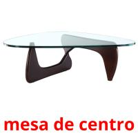 mesa de centro picture flashcards
