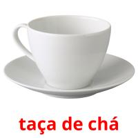 taça de chá picture flashcards