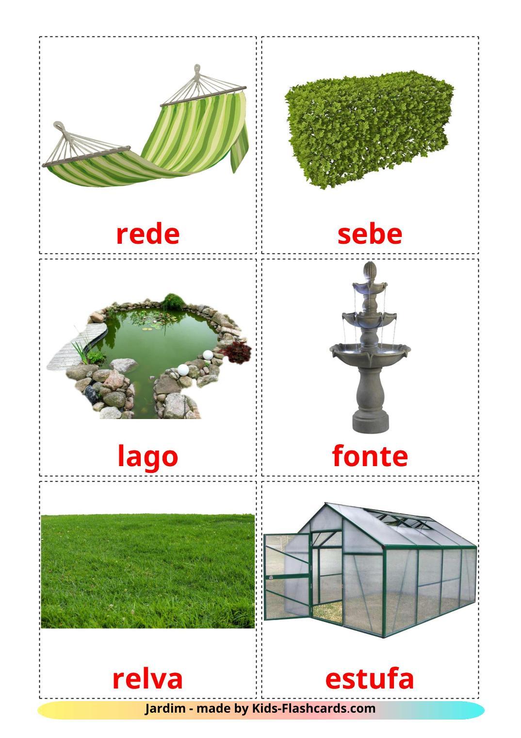 Garden - 18 Free Printable portuguese Flashcards
