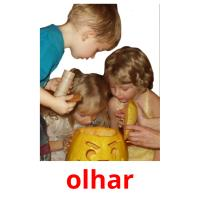 olhar picture flashcards