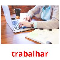 trabalhar picture flashcards