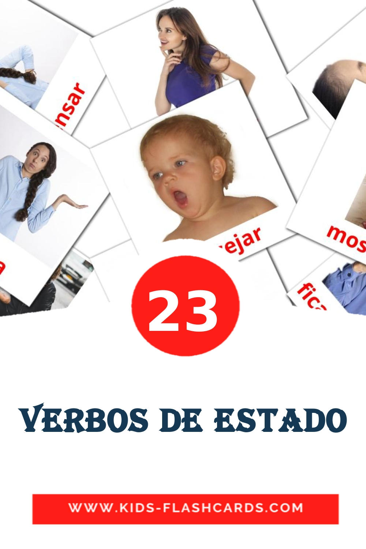 23 Verbos de estado Picture Cards for Kindergarden in portuguese