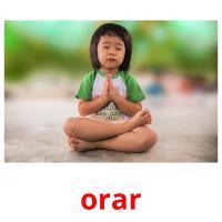 orar picture flashcards