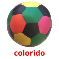 colorido picture flashcards