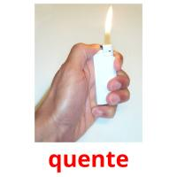 quente picture flashcards