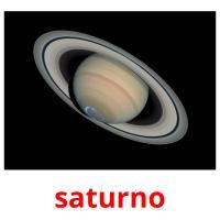 saturno picture flashcards