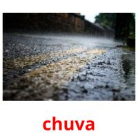 chuva picture flashcards