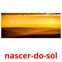 nascer-do-sol picture flashcards