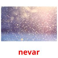 nevar picture flashcards