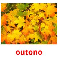 outono picture flashcards