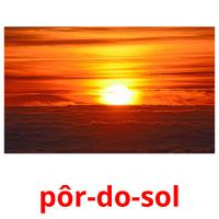 pôr-do-sol picture flashcards
