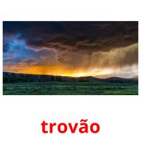 trovão picture flashcards