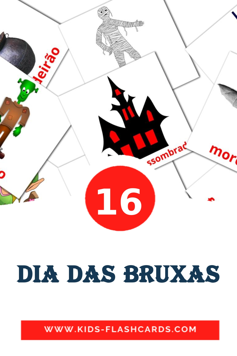 16 dia das bruxas Picture Cards for Kindergarden in portuguese