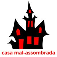 casa mal-assombrada picture flashcards