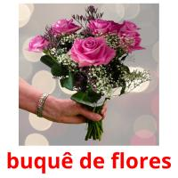 buquê de flores picture flashcards