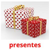 presentes picture flashcards