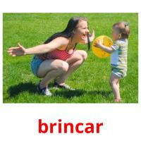 brincar picture flashcards