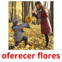 oferecer flores picture flashcards