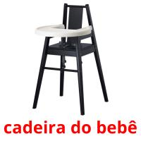 cadeira do bebê picture flashcards