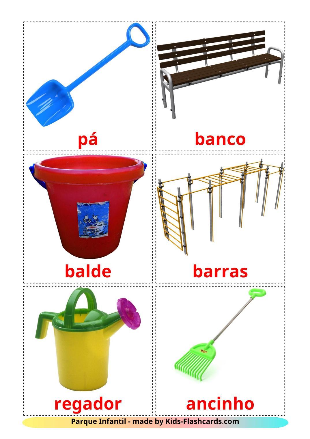 Playground - 13 Free Printable portuguese Flashcards