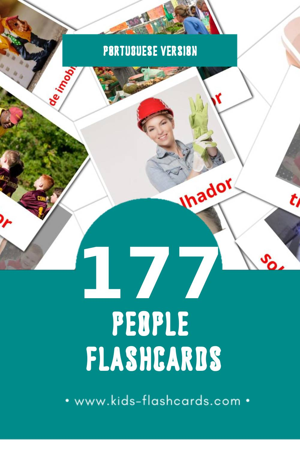 Visual Pessoas  Flashcards for Toddlers (177 cards in Portuguese)