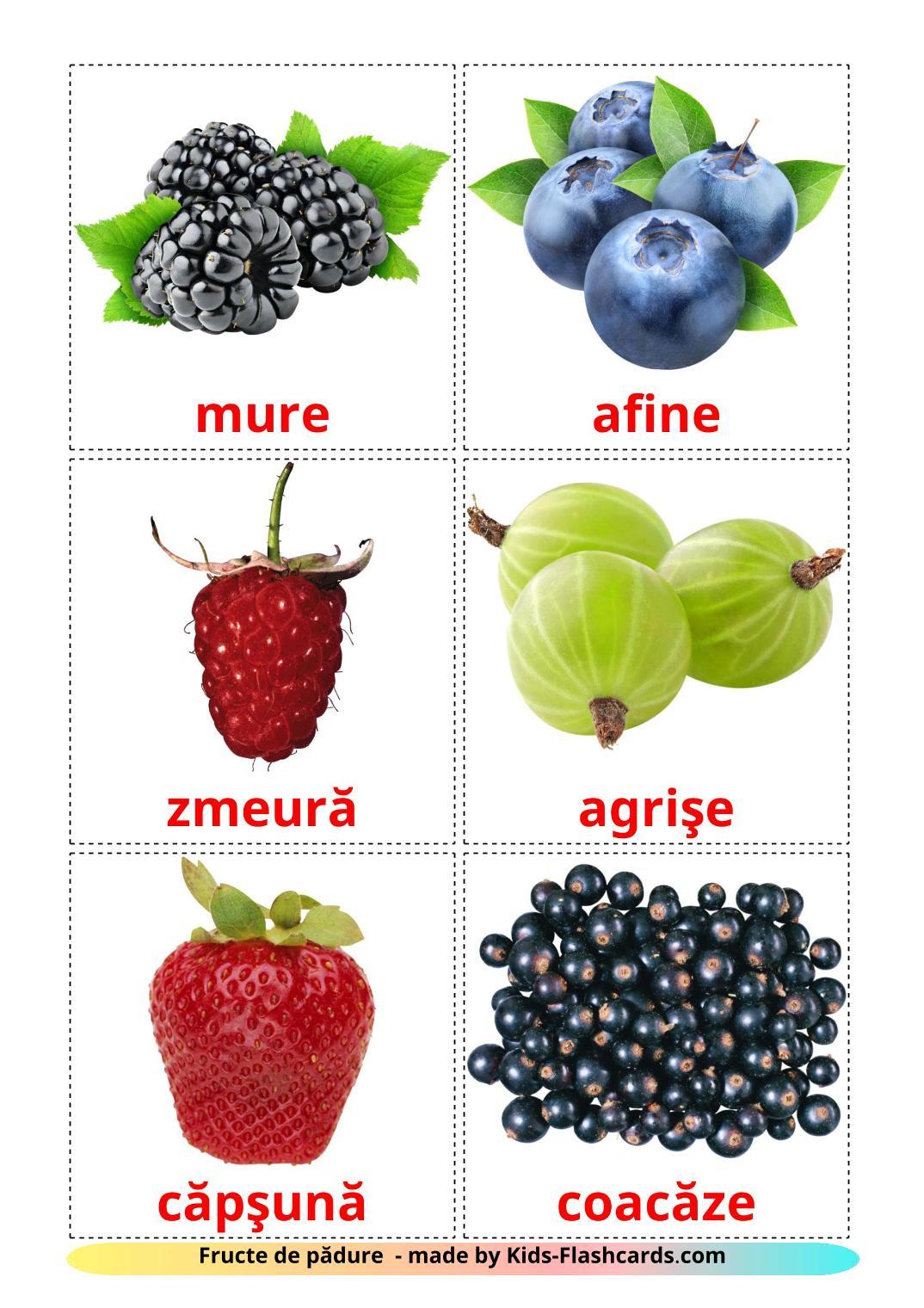 Berries - 11 Free Printable romanian Flashcards