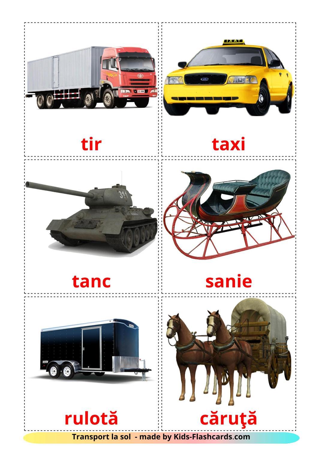 Land transport - 28 Free Printable romanian Flashcards