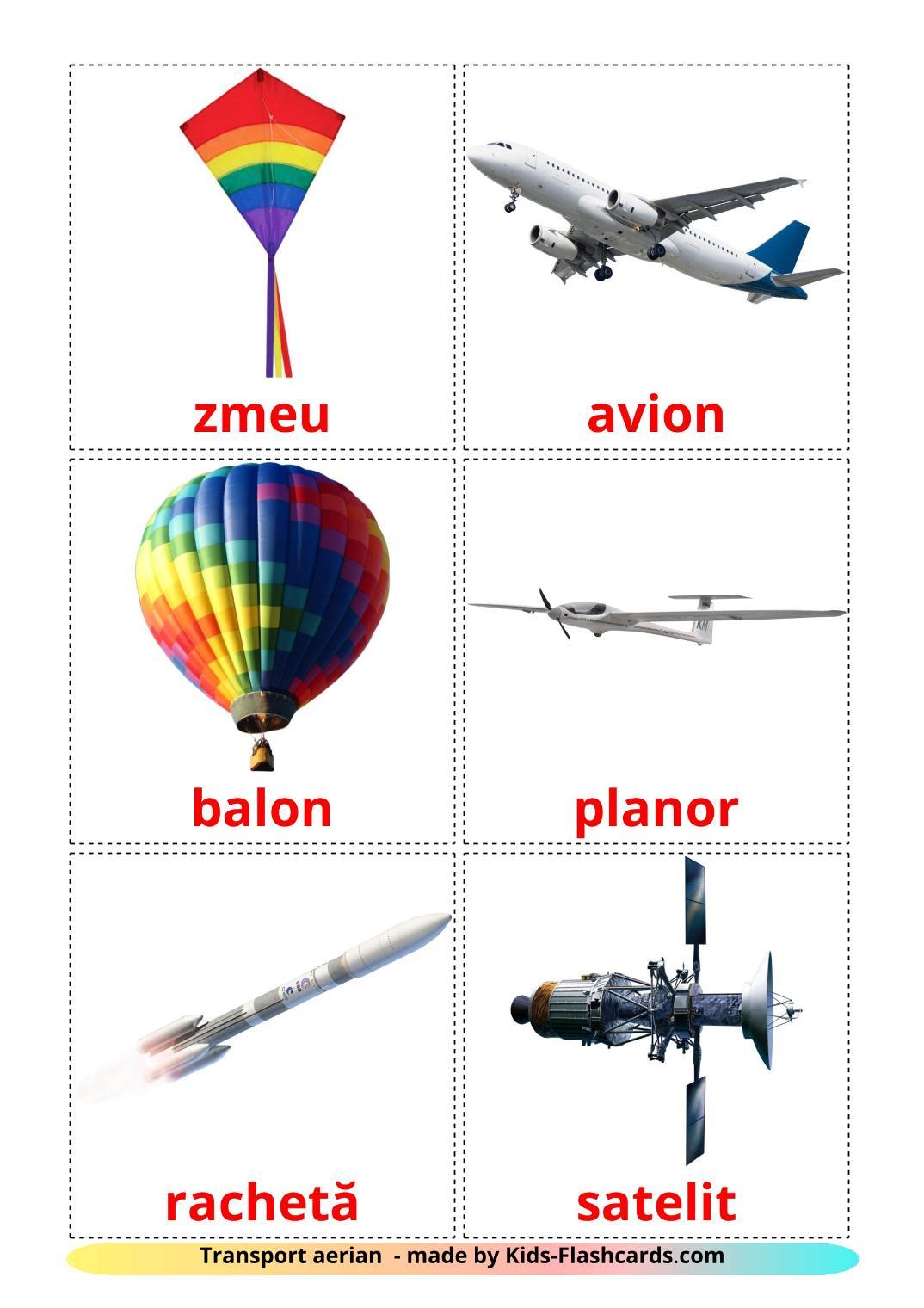 Aircraft - 14 Free Printable romanian Flashcards