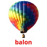 balon picture flashcards