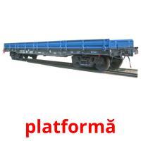 platformă picture flashcards