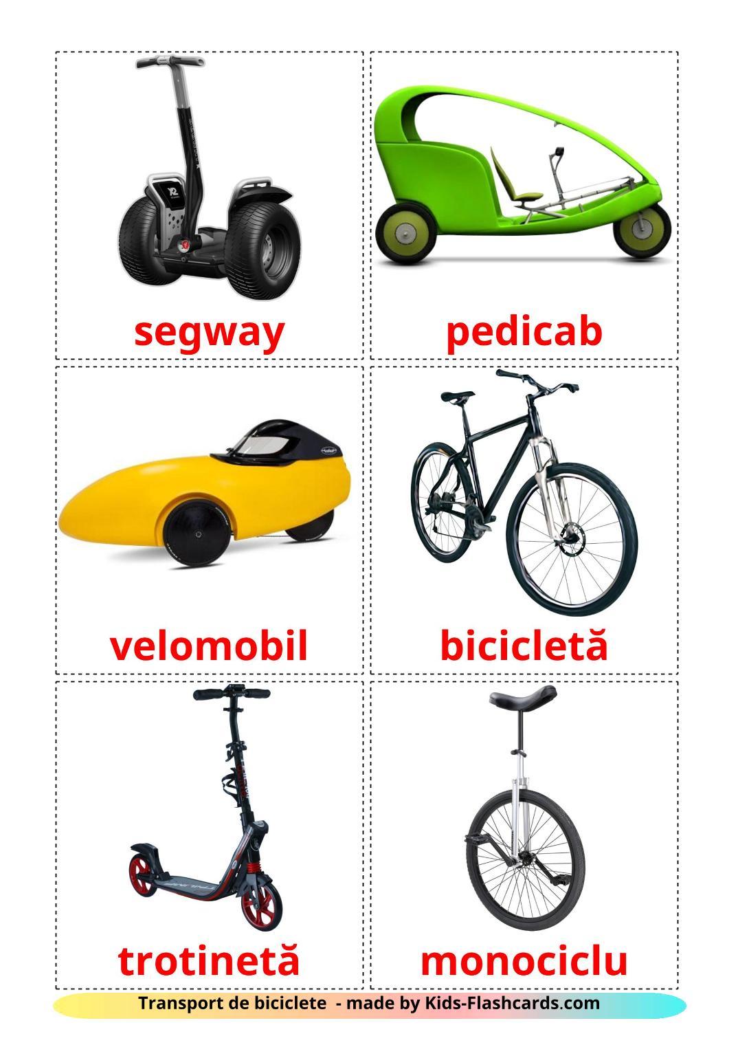 Bicycle transport - 16 Free Printable romanian Flashcards