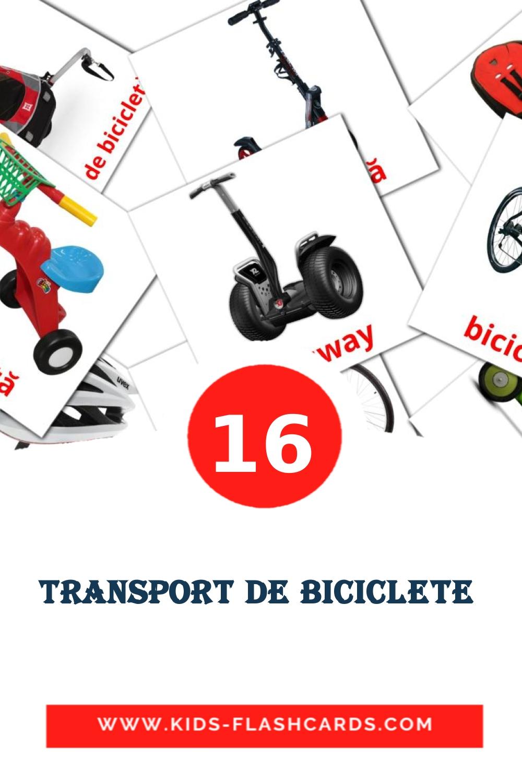 16 Transport de biciclete  Picture Cards for Kindergarden in romanian